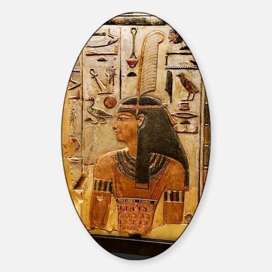 Goddess Maat Sticker (Oval)