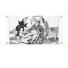 Gout complications, satirical artwork Banner