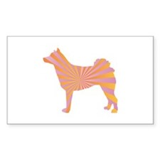 Norrbottenspets Rays Rectangle Decal