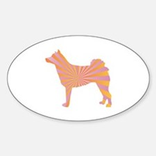 Norrbottenspets Rays Oval Decal