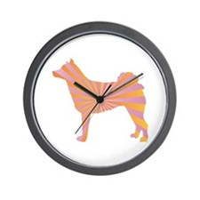 Norrbottenspets Rays Wall Clock