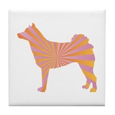 Norrbottenspets Rays Tile Coaster