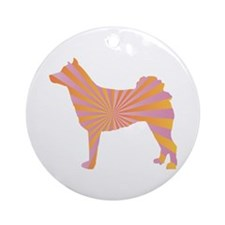 Norrbottenspets Rays Ornament (Round)