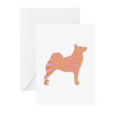 Buhund Rays Greeting Cards (Pk of 10)