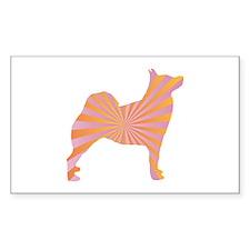 Buhund Rays Rectangle Decal