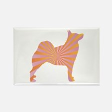 Buhund Rays Rectangle Magnet (100 pack)