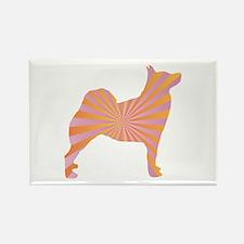 Buhund Rays Rectangle Magnet