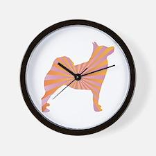 Buhund Rays Wall Clock