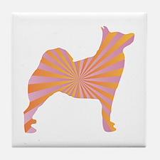 Buhund Rays Tile Coaster