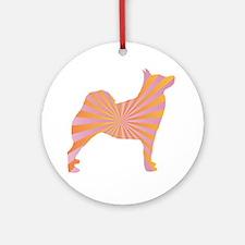 Buhund Rays Ornament (Round)