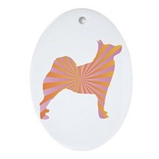 Buhund Rays Oval Ornament