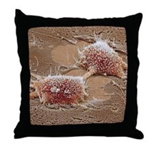 Dividing cancer cell, SEM Throw Pillow