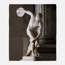 Discus thrower statue Throw Blanket