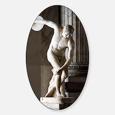 Discus thrower statue Sticker (Oval)