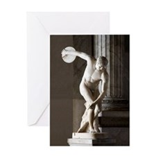 Discus thrower statue Greeting Card