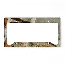 Glossopteris leaf fossils License Plate Holder