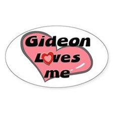 gideon loves me Oval Decal