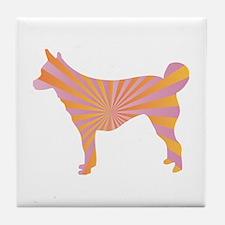 Lundehund Rays Tile Coaster