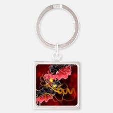 DNA and MECP2 complex, molecular m Square Keychain