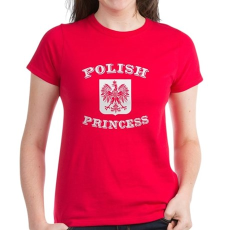 Polish princess women 39 s dark t shirt polish princess tee for Polish t shirts online