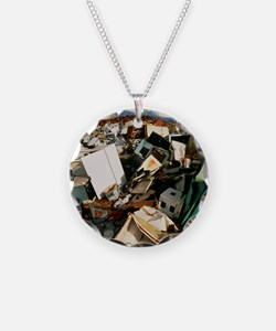 Discarded metal goods in a l Necklace