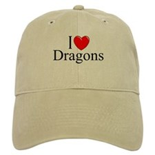 """I Love (Heart) Dragons"" Baseball Cap"