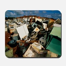 Discarded metal goods in a landfill site Mousepad