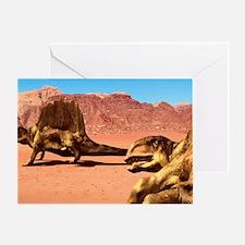 Dimetrodon pair, artwork Greeting Card