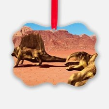 Dimetrodon pair, artwork Ornament
