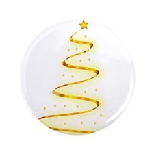 """Invisible Christmas Tree 3.5"""" Button"""