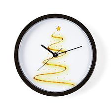 Invisible Christmas Tree Wall Clock