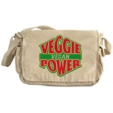 Veggie Power Vegan Messenger Bag