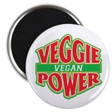"Veggie Power Vegan 2.25"" Magnet (100 pack)"