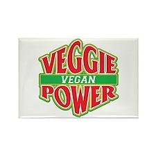 Veggie Power Vegan Rectangle Magnet