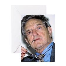 George Soros, Hungarian-US financier Greeting Card