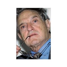 George Soros, Hungarian-US financ Rectangle Magnet