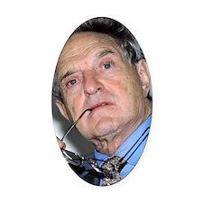 George Soros, Hungarian-US financi Oval Car Magnet