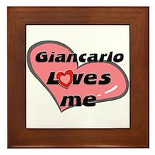giancarlo loves me  Framed Tile