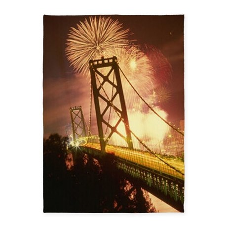 Celebration on Bridge 5'x7'Area Rug