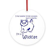 Wildcat-Puppy Round Ornament