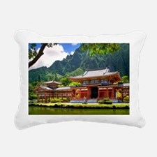 Byodeo-in Temple Hawaii Rectangular Canvas Pillow