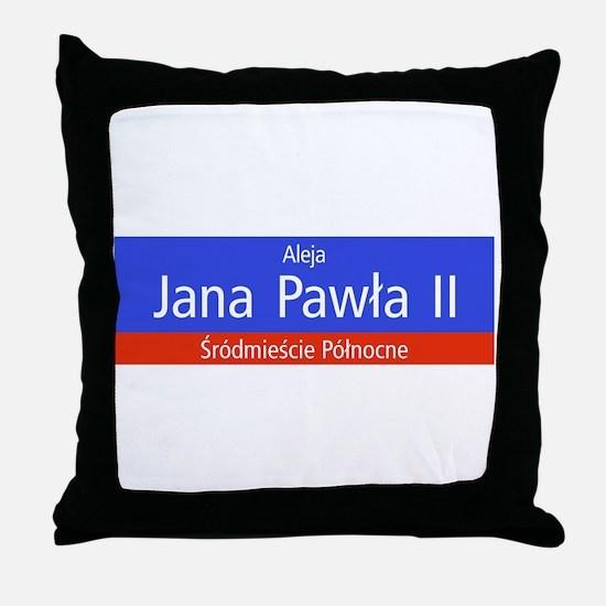 Aleja Jana Pawla II, Warsaw (PL) Throw Pillow