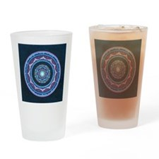 Blue and  Purple Lotus Mandala Drinking Glass