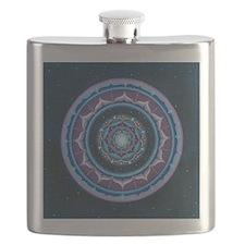 Blue and  Purple Lotus Mandala Flask