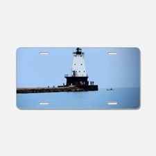 Ludington Lighthouse Aluminum License Plate