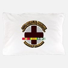 Army - 44th Medical Brigade w SVC Ribbon Pillow Ca