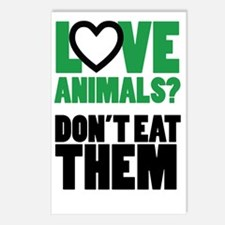 Love Animals Dont Eat The Postcards (Package of 8)