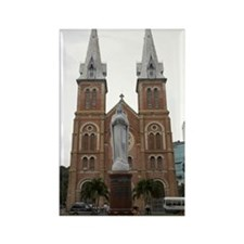 Statue in Front of Cathedral, Ho  Rectangle Magnet