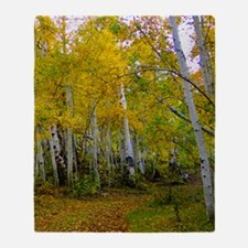 Autumn Yellow Throw Blanket