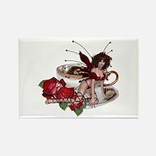 ROSA Teacup Fairy Rectangle Magnet